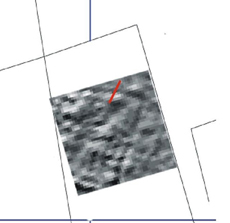 Resistivity plot showing Wenner Array location